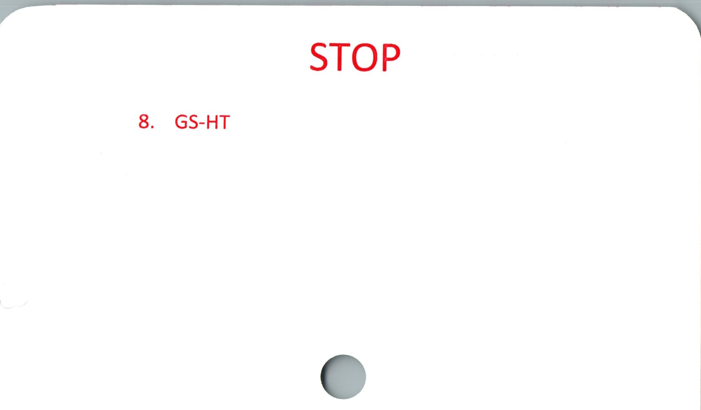 8. GS-  '  STOP