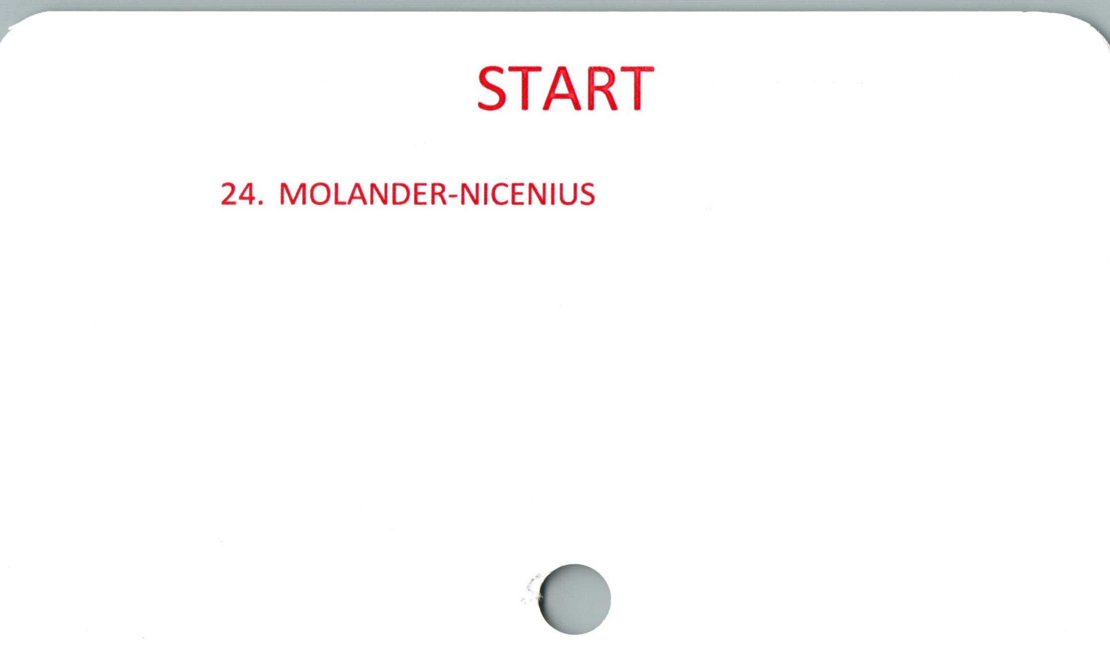 START    24. MOLANDER-NICENIUS  C